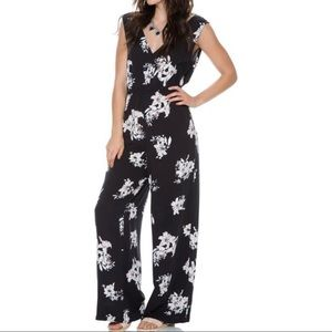 NWOT Black Floral BB Dakota Jumpsuit